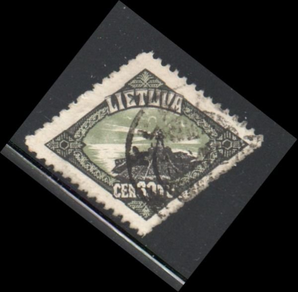 Lithuania Sc 183 1923 30c Memel Lighthouse stamp used