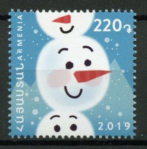 Armenia Christmas Stamps 2019 MNH New Year Snowman 1v Set