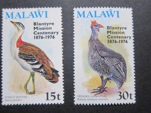 Malawi 1976 Sc 293-294 set MNH