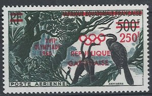 Gabon 1960 Olympic Games 250f on 500f sg165 um (bird thematic)