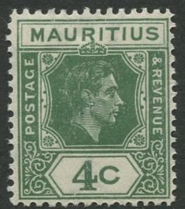 Mauritius - Scott 213 - KGVI Definitive Issue -1938 - MLH -Single 4c Stamp