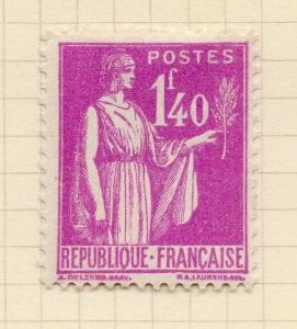 France 1930s Peace Definitive Issue Fine Mint Hinged 1.40F. 300220