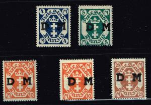 GERMANY STAMP DANZIG STAMPS COLLECTION LOT  #7