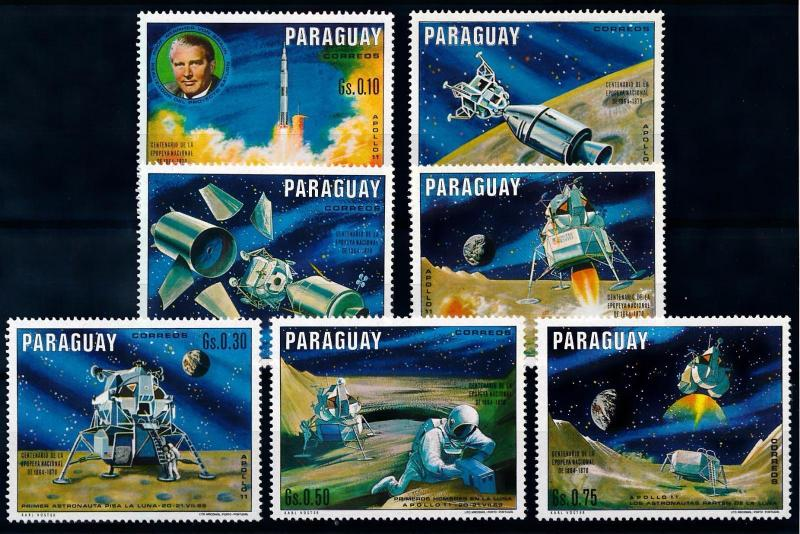 [66072] Paraguay 1970 Space Travel Weltraum Apollo 11  MNH