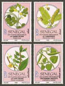 Senegal 901-904,MNH.Michel 1103-1106. Medicinal plants,1990.