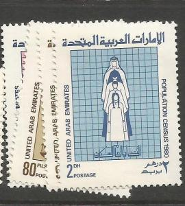United Arab Emirates SG 109-12 MNH (2cvz)