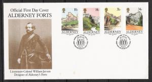 Alderney #28 FDC Forts