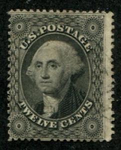 USA SC# 36B G. Washingtom 12c Very Light Cancellation