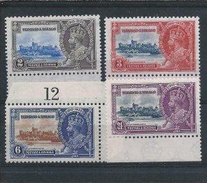 Trinidad & Tobago 1935 Silver Jubilee set of four MNH SG239/242 Cat £16
