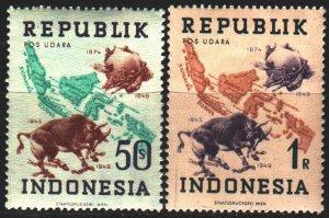 Indonesia. 1949. 181-82. UPU anniversary. MNH.