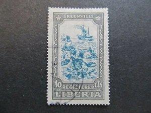 A4P25F21 Liberia Registration Stamp 1924 10c used