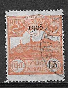 COLLECTION LOT OF # 806 SAN MARINO  # 77 1905