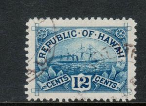 Hawaii #78 Extra Fine Used With Graded 98 Certificate