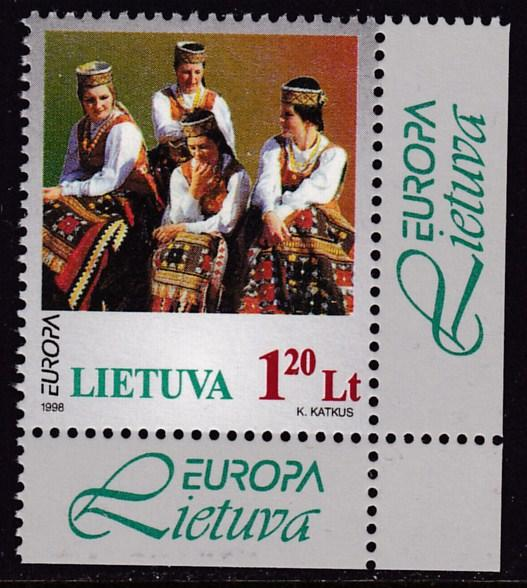 Lituania 1998 Europa issue (1) National Song Festival VF/NH