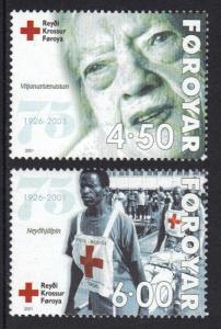 Faroe Islands 2001 MNH Red Cross complete
