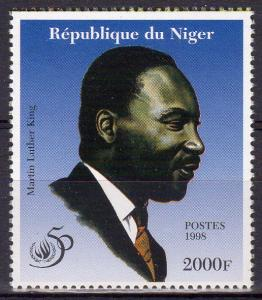 Niger 1998 Martin Luther King - 50th.Anniversary Human Rights Single Perforated