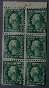United States #498e 1 Cent Washington Pane of Six MNH Dark Green