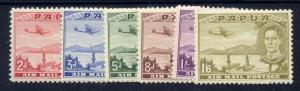 Papua 1939 SG 163 to 168 - air set of 6, fine mint