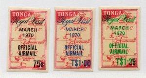 Tonga - SG# O39 - O541 MLH / Imperfs   -   Lot 0720608