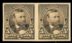 momen: US Stamps #223Pa IMPERF PAIR MINT OG NH/H LOT #70734