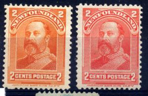 Canada Newfoundland 1897 sg 86 and 87