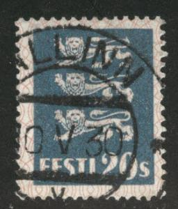 Estonia Scott 99 used from 1928-1940 Arms set