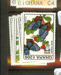 GHANA (B1801) BUTTERFLY SC1443-50  MOG