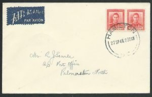 NEW ZEALAND 1948 first flight cover Hamilton to Palmerston North...........56757