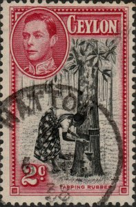 CEYLON - 1938 -  HATTON  (ஹற்றன்) CDS on SG386b KGVI 2cp.13-1/2