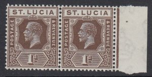 ST. LUCIA, Scott 78, MNH pair