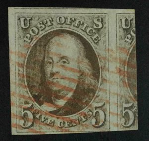 MOMEN: US STAMPS #1 USED LOT #55374