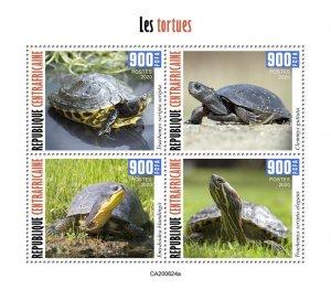 C A R - 2020 - Tortoises - Perf 4v Sheet  - Mint Never Hinged
