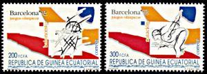 Equatorial Guinea 169-170, MNH, Barcelona Summer Olympic Games