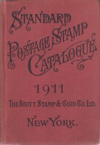1911 Scott Standard Postage Stamp Catalogue, hardcover.