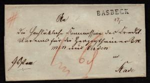 $German Stampless Cover, Basbeck-Stade