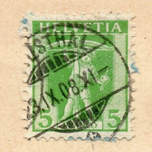 Switzerland 1904 Early Issue Fine Used 5c. Postmark NW-08223
