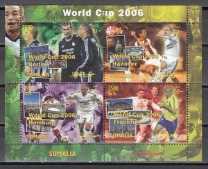 Somalia, 2004 Cinderella issue. World Cup Soccer sheet of 4.