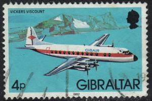 Gibraltar - 1982 - Scott #419 - used - Airplane Viscount