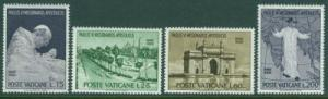 VATICAN Scott 400-403 Pope Paul VI India Visit Set MNH**1964