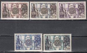 Tunisia, Sc 259-263, MNH, 1955, Rotary