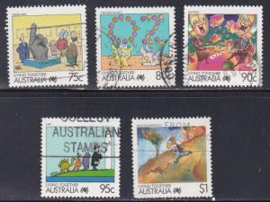 Australia # 1074-1078, Cartoons, High Values, Used, 1/3 Cat.