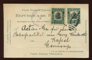 Canal Zone UX2 (UPSS S7) type '5' Used Uprated Post Card to Germany
