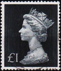 Great Britain. 1970 £1 S.G.831b. Fine Used