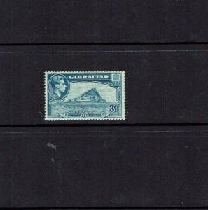 Gibraltar: 1938, 3d light-blue, SG 125, perf 13.5. very lightly hinged mint.