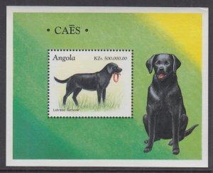 Angola 1026 Dogs Souvenir Sheet MNH VF