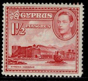 CYPRUS GVI SG155, 1½pi carmine, M MINT.