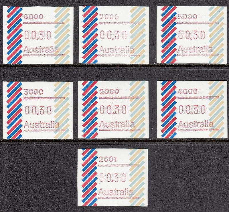 AUSTRALIA MNH Machine Vended Stamp Labels