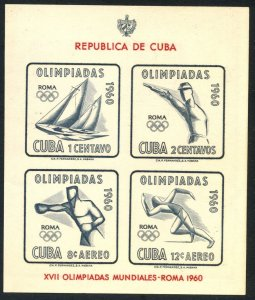 1960 Cuba 673-676/B18b 1960 Olympic Games in Rome 7,00 €