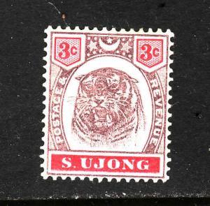 Malaya S Ujong-Sc#36-unused light hinged 3c Tiger-1895-
