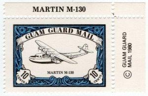 (I.B) Guam Local Post : Guam Guard Mail 10c (Martin M-130)